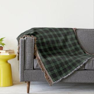 Cobertor Xadrez de Tartan verde preta dobro