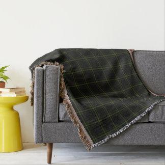 Cobertor Xadrez de Tartan verde preta tripla
