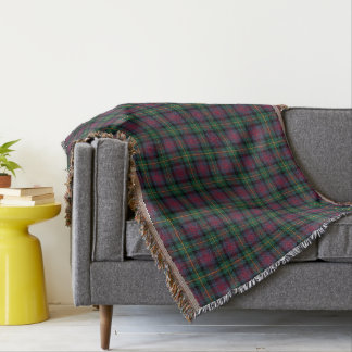 Cobertor Xadrez do Scottish de Logan do clã do verde e dos