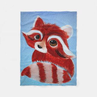 Cobertura adorável do velo da panda vermelha cobertor de lã