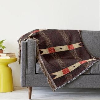 Cobertura afegã modelada rústica do lance das throw blanket