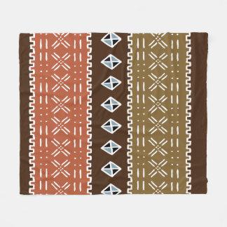 Cobertura africana do velo do teste padrão de cobertor de velo