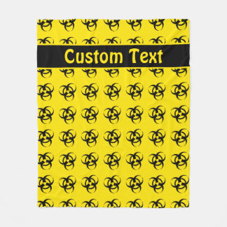 Cobertura amarela do símbolo do Biohazard com Cobertor De Velo