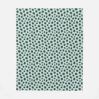 Cobertura animal manchada do velo do impressão do cobertor de lã