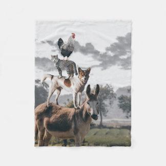 Cobertura animal parva cobertor de velo