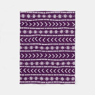 Cobertura áspera da neve - ameixa cobertor de lã