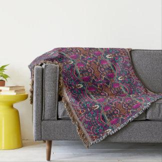 Cobertura asteca colorida do lance da decoração da manta