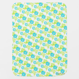 Cobertura azul do bebê do jardim da corriola cobertor para bebe
