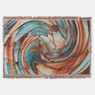 Cobertura azul do lance da arte abstracta da coberta
