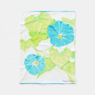 Cobertura azul do velo da corriola cobertor de velo