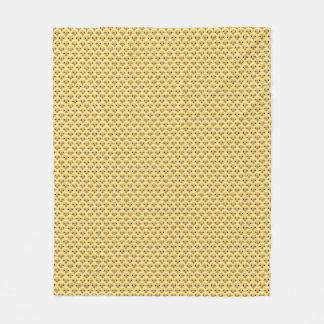 Cobertura bonito do velo do teste padrão dos cobertor de velo