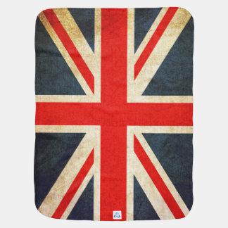 Cobertura britânica retro do bebê da bandeira de cobertor para bebe