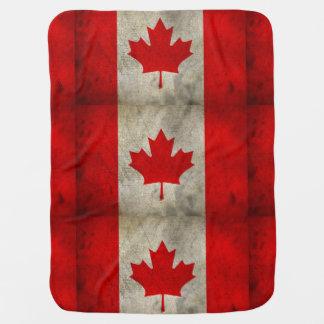 Cobertura canadense moderna do bebê da bandeira cobertores de bebe