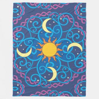 Cobertura celestial do velo da mandala cobertor de velo