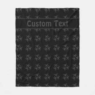 Cobertura cinzenta do símbolo do Biohazard com Cobertor De Velo