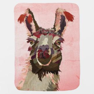 Cobertura cor-de-rosa do bebê do lama cobertor de bebe