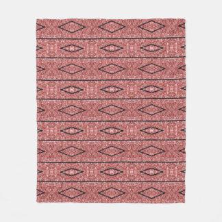 Cobertura cor-de-rosa do design do ouro da cobertor de lã