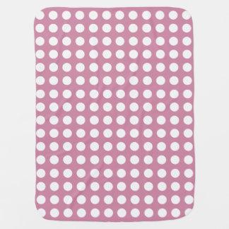 Cobertura cor-de-rosa obscura do bebê das bolinhas manta para bebe