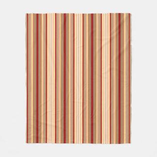 Cobertura de creme marrom das listras de Tan Cobertor De Lã
