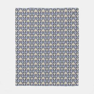 Cobertura decorativa do velo do teste padrão do cobertor de velo