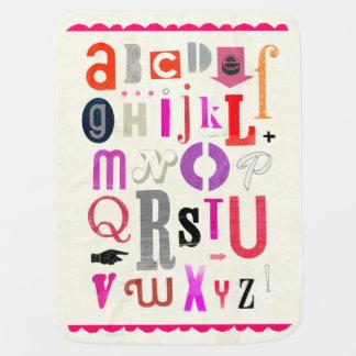 Cobertura do bebê do alfabeto! manta para bebe
