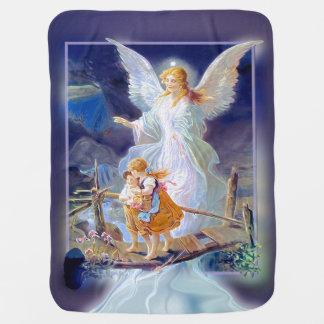 Cobertura do bebê do anjo-da-guarda manta de bebe