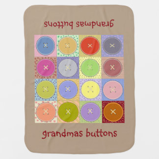 Cobertura do bebê dos botões das avós mantas de bebe