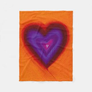 Cobertura do coração cobertor de lã
