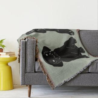 Cobertura do lance do amor de filhote de cachorro throw blanket