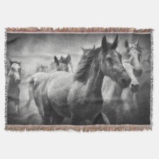 Cobertura do lance do debandada do cavalo coberta