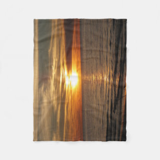 Cobertura do por do sol cobertor de velo