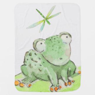 Cobertura do sapo e da libélula cobertorzinho para bebe