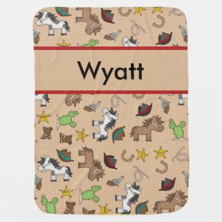 Cobertura do vaqueiro de Wyatt Cobertor De Bebe