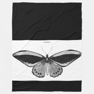 Cobertura do velo da borboleta do vintage cobertor de velo