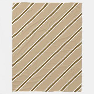 Cobertura do velo da listra de Brown grande Cobertor De Lã