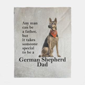 Cobertura do velo do pai do german shepherd cobertor de lã