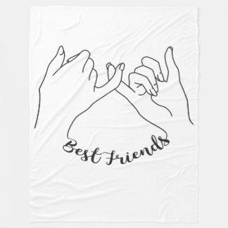 Cobertura dos melhores amigos cobertor de lã