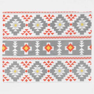 Cobertura feita sob encomenda asteca cinzenta do cobertor de lã