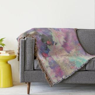 cobertura floral do lance das flores elegantes do manta