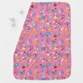 Cobertura Pastel cor-de-rosa do bebê do impressão Manta De Bebe
