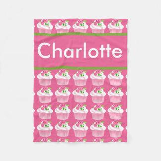 Cobertura personalizada do cupcake de Charlotte Cobertor De Lã