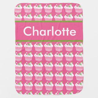 Cobertura personalizada do cupcake de Charlotte Manta De Bebe