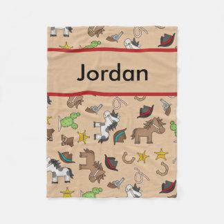 Cobertura personalizada do vaqueiro de Jordão Cobertor De Velo