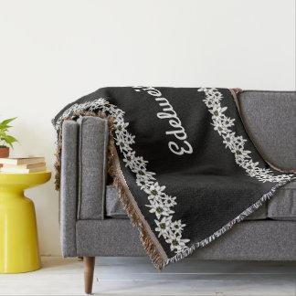 Cobertura preto e branco do lance de Edelweiss Lençol