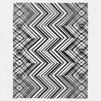 Cobertura preto e branco do velo do ziguezague cobertor de lã
