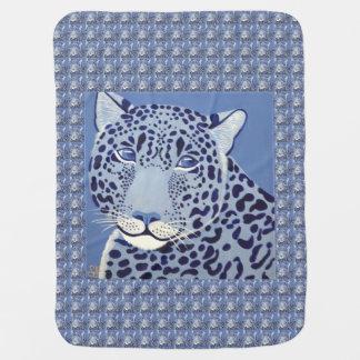 Cobertura Ultramarine do bebê de Jaguar Cobertores De Bebe