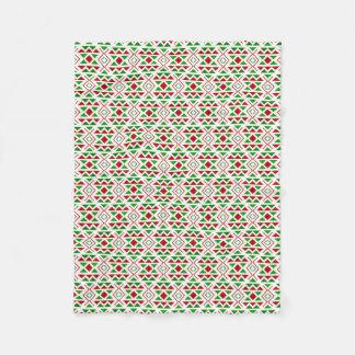 Cobertura verde vermelha do velo cobertor de lã