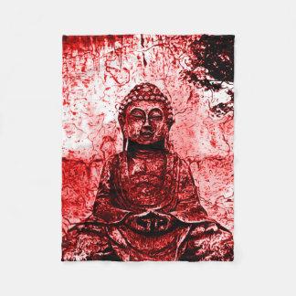 Cobertura vermelha da arte do Grunge de Buddha Cobertor De Velo