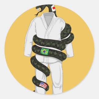 Cobra de Jiu Jitsu do brasileiro Adesivo