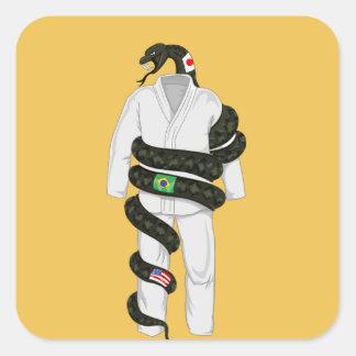 Cobra de Jiu Jitsu do brasileiro Adesivo Quadrado